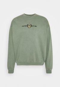 Kaotiko - CREW WASHED BEETLE ARMY - Zip-up sweatshirt - olive - 0