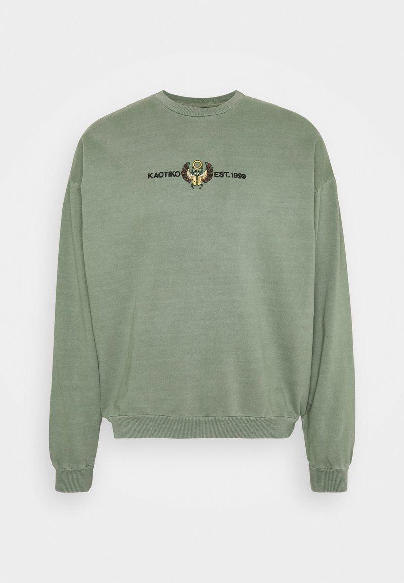 Kaotiko - CREW WASHED BEETLE ARMY - Zip-up sweatshirt - olive