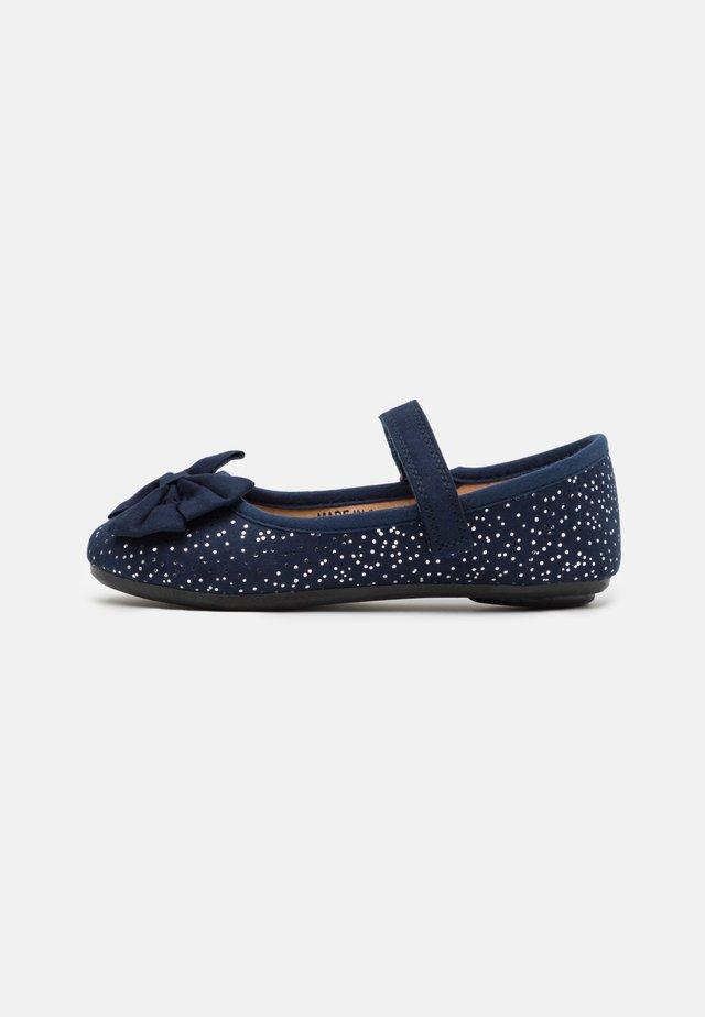 Ankle strap ballet pumps - dark blue