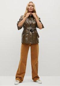 Mango - DORIS - Faux leather jacket - braun - 1