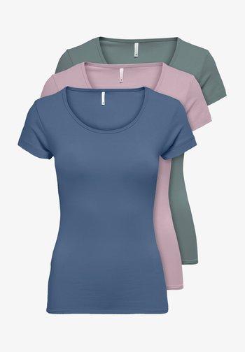 PACK OF 3 - Basic T-shirt - moon/daw/sto
