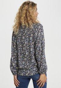Denim Hunter - Button-down blouse - total eclipse flora print - 2