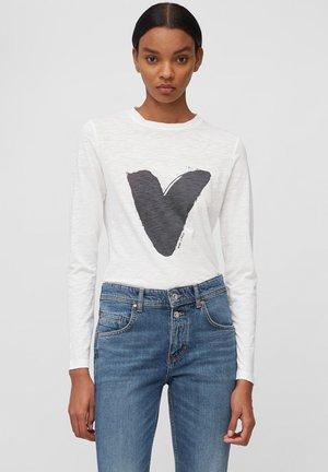 Long sleeved top - multi/white