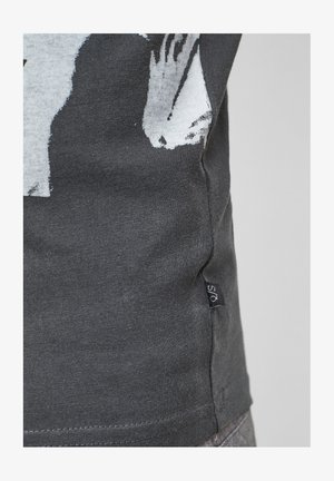 T-shirt con stampa - dark grey placed print