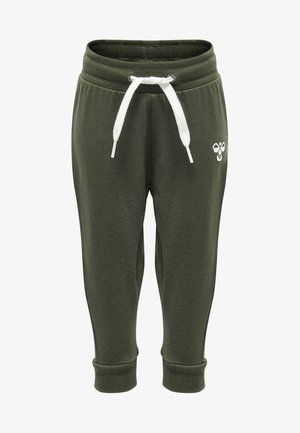 HMLAPPLE - Tracksuit bottoms - olive night