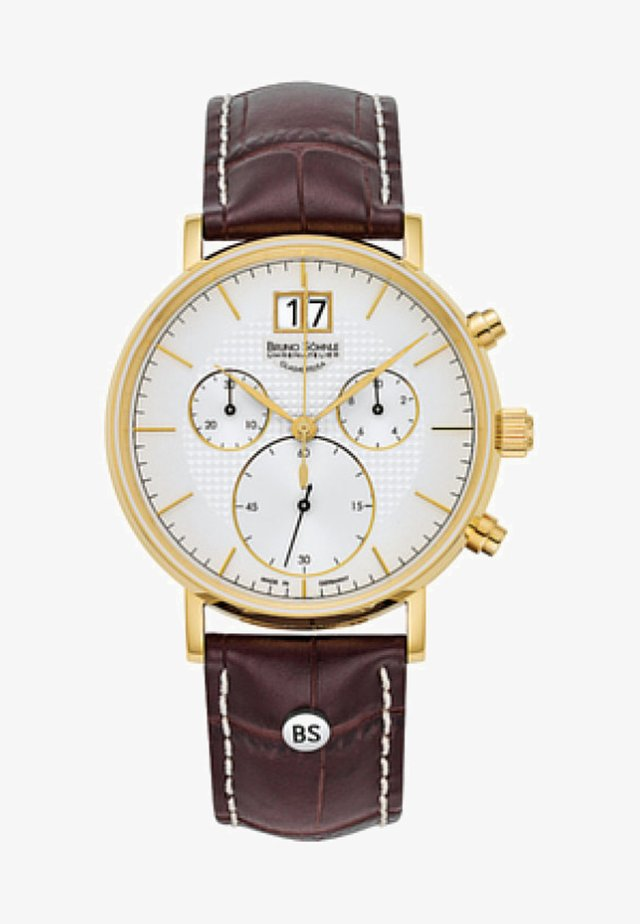 Chronograph watch - brown