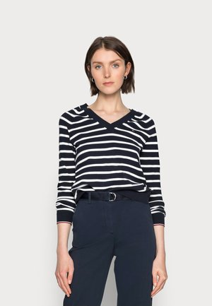 V-NECK SWEATER - Pullover - blue