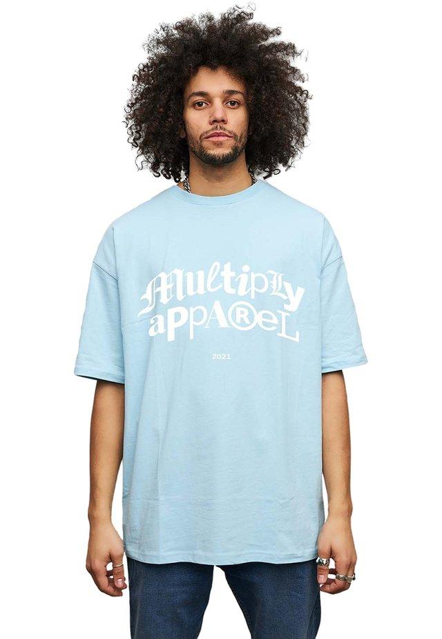 T-shirt print - baby blue