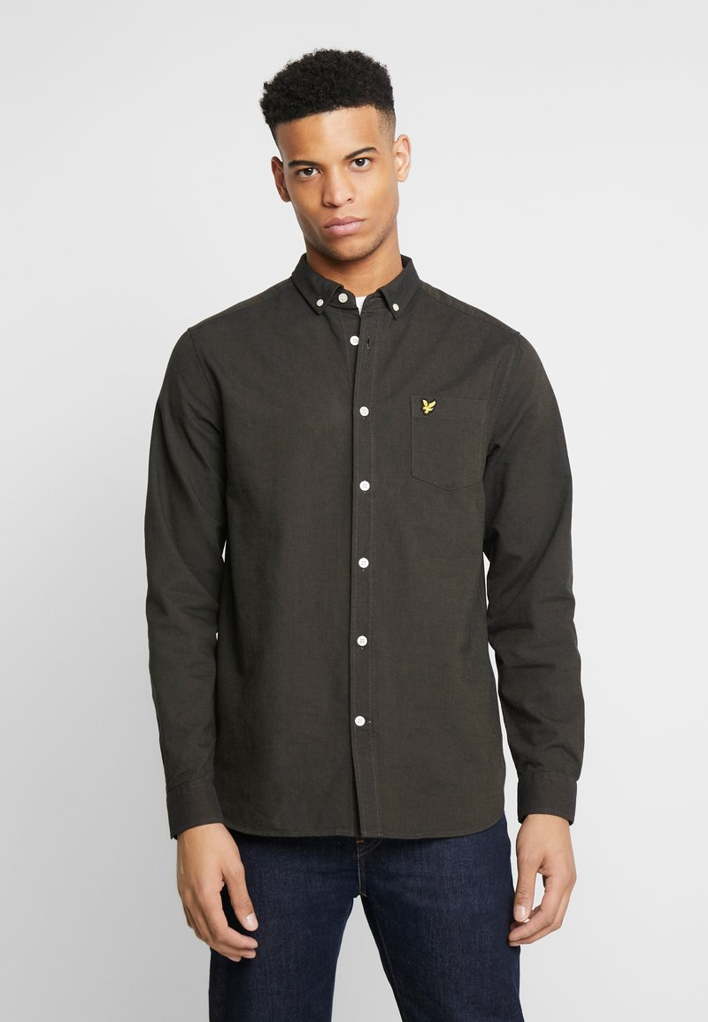 Lyle & Scott - REGULAR FIT  - Skjorta - true black/olive