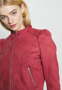 ONLY - ONLSHELBY CROP BONDED JACKET  - Giacca in similpelle - baroque rose - 4