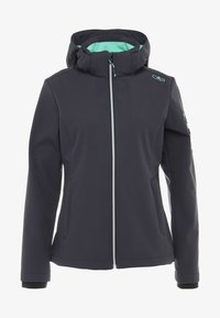 CMP - WOMAN JACKET ZIP HOOD - Soft shell jacket - antracite - 7