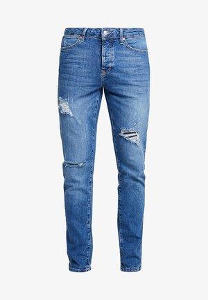 YOESMITE MARBLE WASH RIP  - Slim fit jeans - mid wash