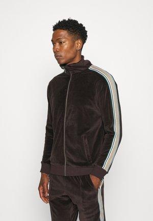 TRACKTOP TAPING DETAIL - Zip-up sweatshirt - brown