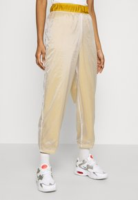 Nike Sportswear - PANT - Tracksuit bottoms - dark citron/white/black - 0