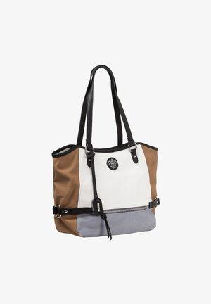 Handbag - bianco-tan-sky