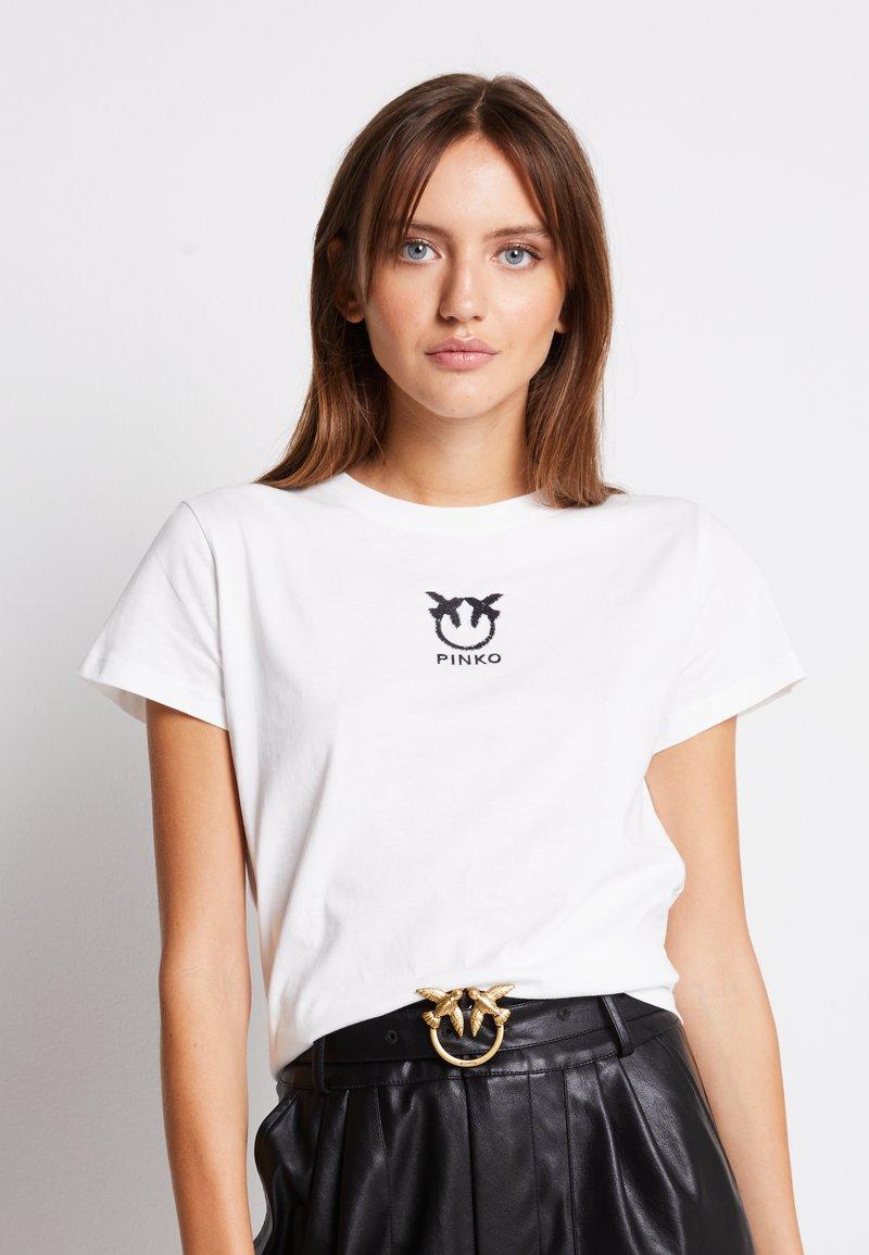 Pinko - BUSSOLANO - Print T-shirt - white
