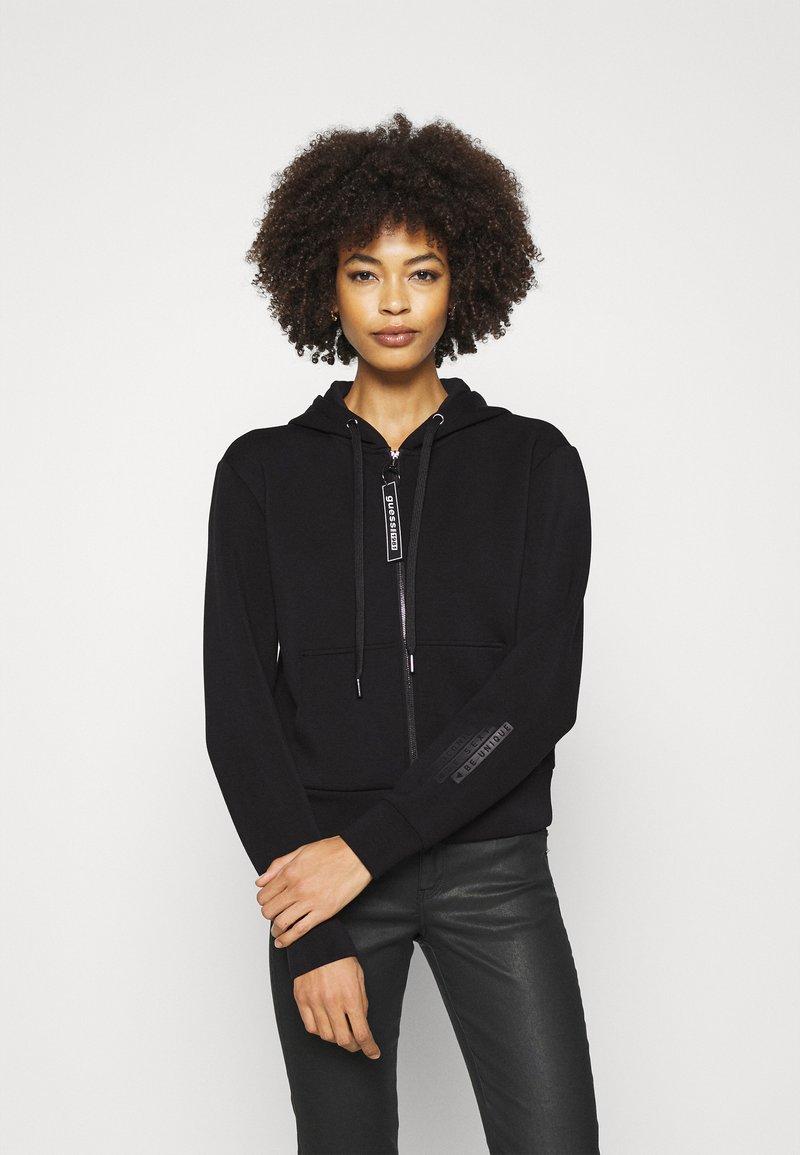 Guess - AKILAH ZIPPED  - veste en sweat zippée - jet black
