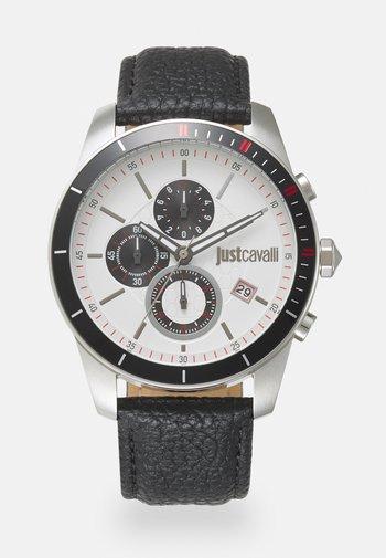 SPORT - Chronograph watch - black/silver-coloured