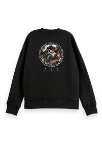 Scotch & Soda - CREWNECK WITH GRAPHIC - Sweatshirt - black - 5