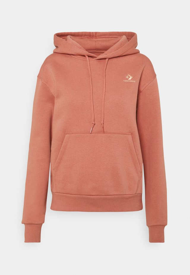 EMBROIDERED HOODIE - Hoodie - terracotta pink
