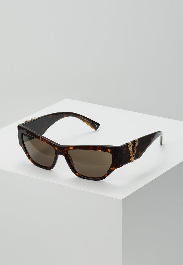 Solbriller - mottled brown/black