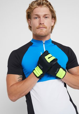 THERMO - Fingerless gloves - black/neon yellow