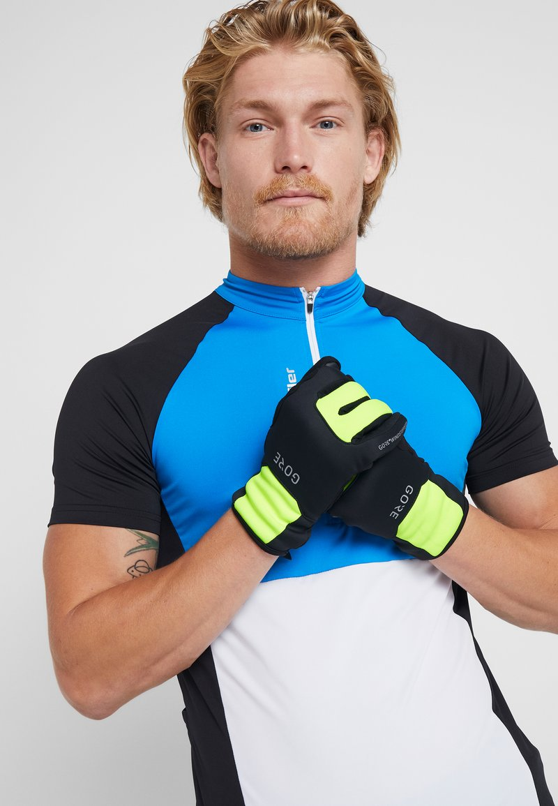 Gore Wear - THERMO - Mitaines - black/neon yellow