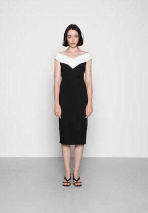 SMITH CONTRAST MIDI DRESS - Jersey dress - black/white