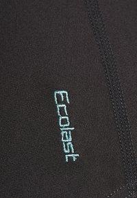 Zoggs - CABLE ZIPPED HI NECK - Swimsuit - black - 3