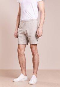Ron Dorff - EYELET EDITION  - Pantalones deportivos - grey melange - 0