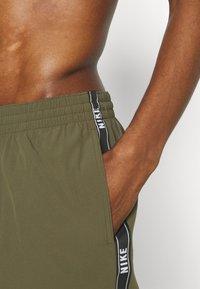 Nike Performance - VOLLEY SHORT LOGO TAPE - Swimming shorts - medium olive - 3