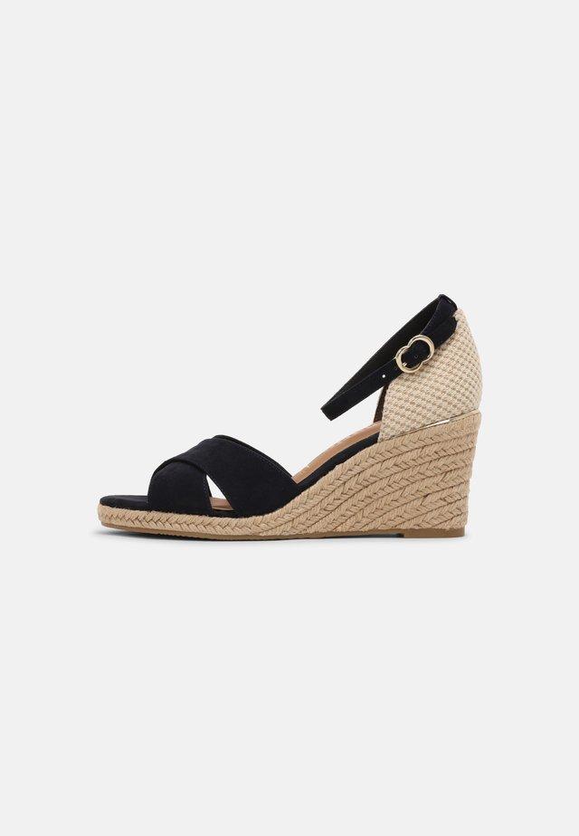 Sandales compensées - navy