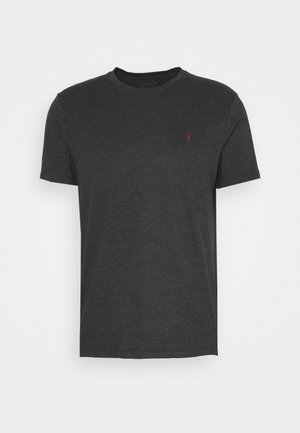 BRACE CONTRAST CREW - Basic T-shirt - soot black marl