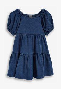 Next - Day dress - blue denim - 1