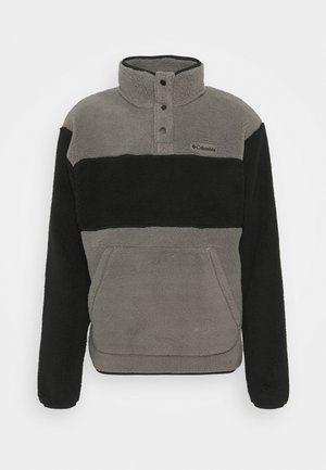 RUGGED RIDGE SHERPA SNAP - Fleece jumper - city grey/black