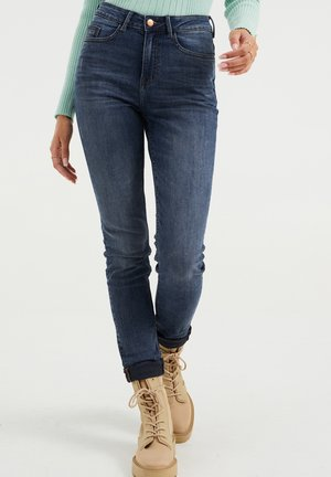 HIGH RISE - Jeans Skinny Fit - blue