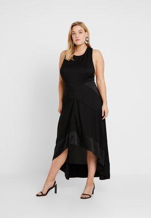 HALTER NECK MIDI DRESS - Day dress - black