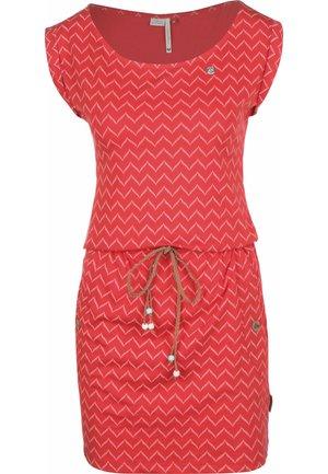 TAG ZIG ZAG - Pouzdrové šaty - red