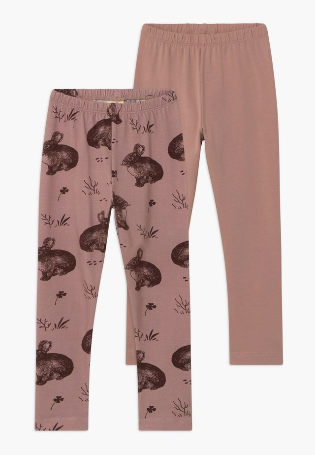 2 PACK - Leggings - rose