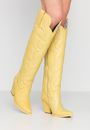 AMIGOS - High heeled boots - yellow