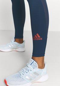 adidas Performance - TECHFIT STRIPES LONG - Leggings - crew navy/crew red - 3