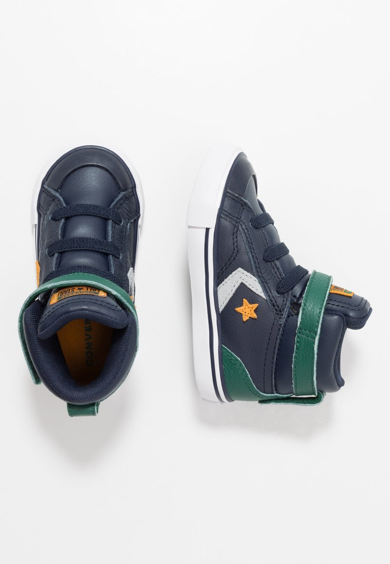 Converse - PRO BLAZE STRAP - High-top trainers - obsidian/midnight clover/saffron yellow