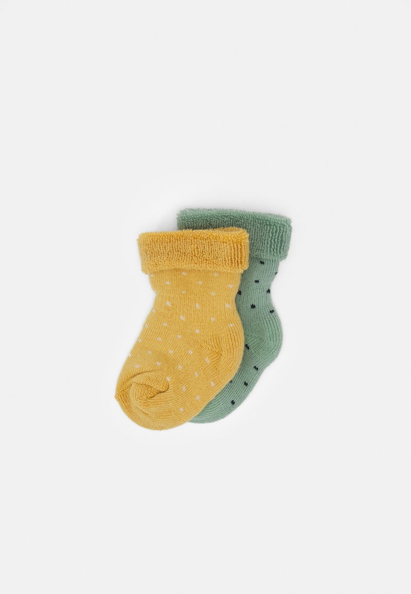 MP Denmark - BABY CARLY SOCKS 2 PACK - Socks - granite green