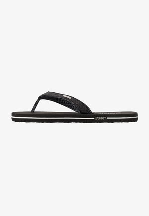GLITTER THONGS - T-bar sandals - black