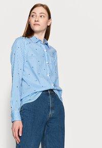 Gap Tall - Button-down blouse - navy - 3