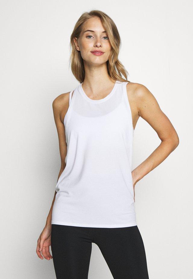 TIE BACK TANK NON HOT - T-shirt sportiva - optic white