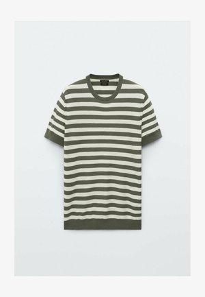 GESTREIFTES  - Print T-shirt - khaki