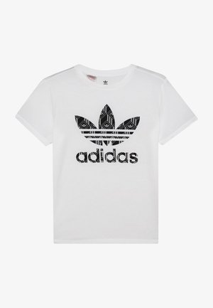TEE - T-shirt z nadrukiem - white/black