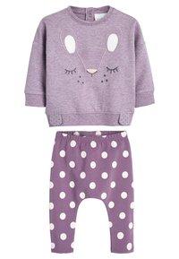 Next - LILAC CHARACTER SWEAT TOP AND LEGGINGS SET (0MTHS-2YRS) - Sweatshirt - purple - 0