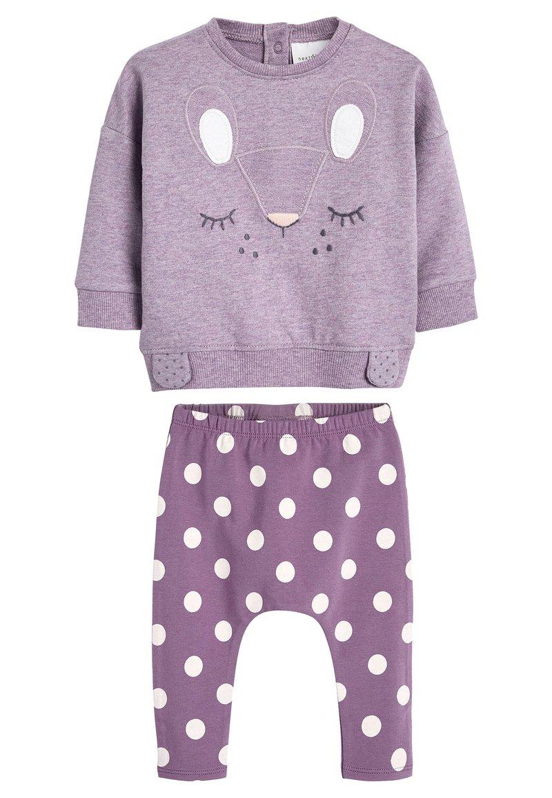 Next - LILAC CHARACTER SWEAT TOP AND LEGGINGS SET (0MTHS-2YRS) - Sweatshirt - purple